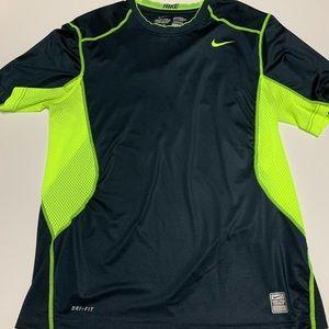 Nike dri-fit combat neon green and black shirt